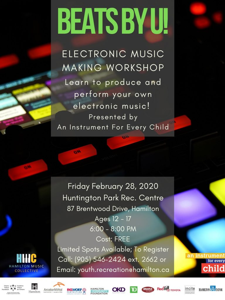 Electronic Music Making Workshop Poster