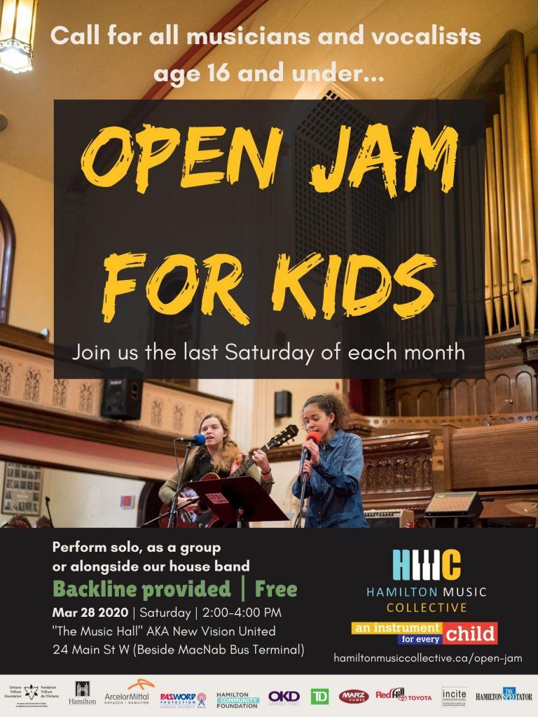Open Jam For Kids Poster